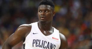 Zion will miss Pelicans' preseason finale with knee soreness