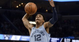 Morant scores 25 in win, spoiling Conley's Memphis return