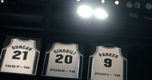 Spurs honor Tony Parker in ceremony to retire No. 9