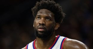 Joel Embiid sprains shoulder, Sixers lose to Cavs
