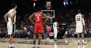 Raptors, Spurs Bryant tributes; Toronto wins