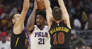 Shoulder injury to keep Embiid out at least one week