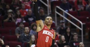 James Harden, Rockets roll to rout of young Warriors
