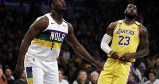 LeBron's 40 bests Zion, sends Lakers past Pelicans